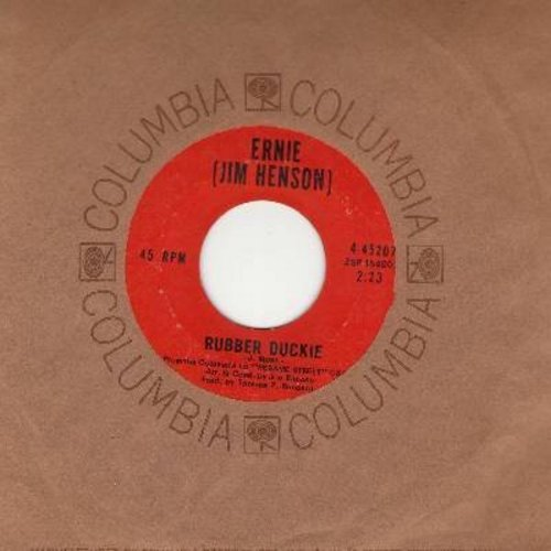 Ernie (Jim Henson) - Rubber Duckie/Sesame Street (with Columbia company sleeve) - EX8/ - 45 rpm Records
