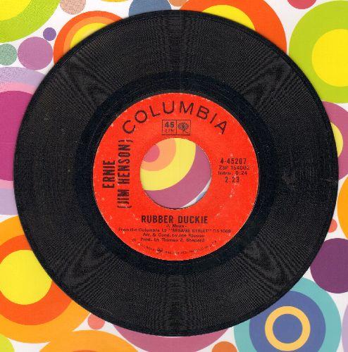 Ernie (Jim Henson) - Rubber Duckie/Sesame Street  - VG7/ - 45 rpm Records
