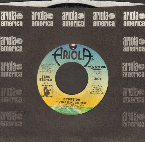 Eruption - I Can't Stand The Rain/Be Yourself (with Ariola company sleeve) - NM9/ - 45 rpm Records
