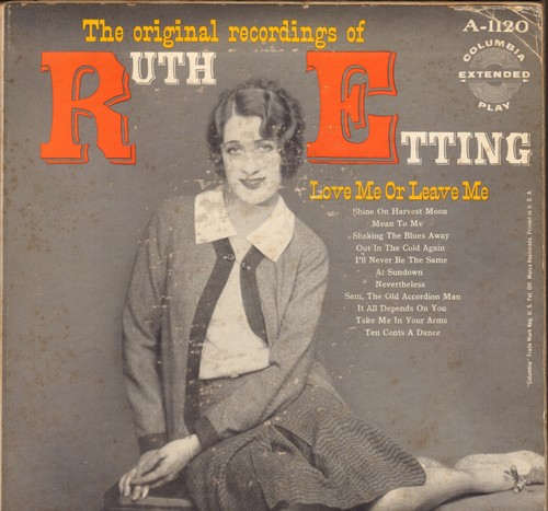 Etting, Ruth - Love Me Or Leave Me/Shaking The Blues Away/Ten Cents A Dance/Sam The Old Accordion Man+ 8 (3 vinyl EP set in picture album, 1950s issue of vintage recordings) - NM9/VG7 - 45 rpm Records