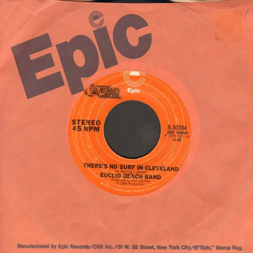 Euclid Beach Band - There's No Surf In Cleveland/Laugh In The Dark (with Epic company sleeve)(wol) - NM9/ - 45 rpm Records