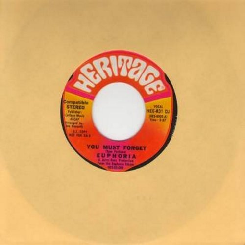 Euphoria - You Must Forget (BITTER-SWEET Love Ballad!) (double-A-sided DJ advance copy) - NM9/ - 45 rpm Records