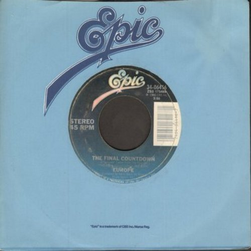 Europe - The Final Countdown (FAVORITE for New Year's Eve Parties!)/On Broken Wings  - NM9/ - 45 rpm Records