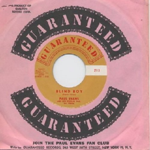 Evans, Paul - Blind Boy/Hushaby Little Guitar (with Guaranteed company sleeve) - M10/ - 45 rpm Records