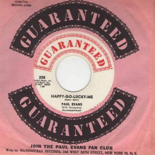 Evans, Paul - Happy-Go-Lucky-Me/Fish In The Ocean (with RARE vintage Guaranteed company sleeve) - NM9/ - 45 rpm Records