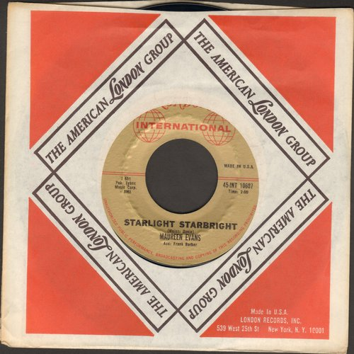 Evans, Maureen - Starlight Starbright (DEFINITIVE 60s Girl-Sound!)/Like I Do (with vintage London company sleeve) - NM9/ - 45 rpm Records