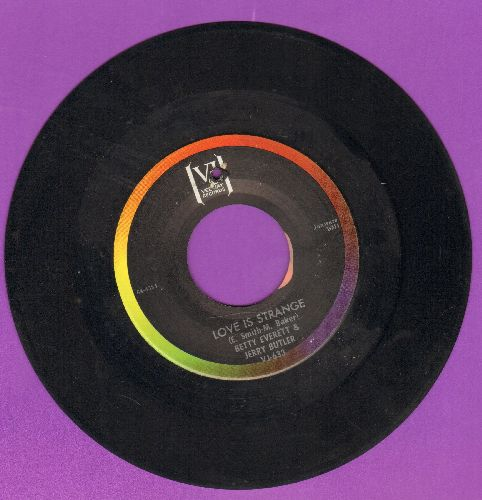 Everett, Betty & Jerry Butler - Love Is Strange/Smile (bb) - EX8/ - 45 rpm Records