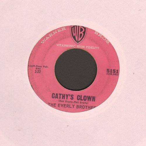 Everly Brothers - Cathy's Clown/Always It's You (pink label early pressing) - VG7/ - 45 rpm Records