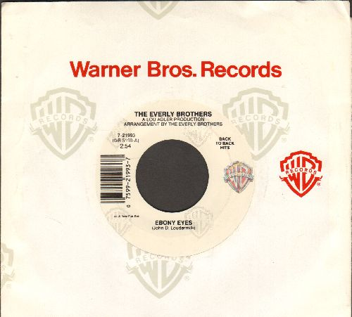 Everly Brothers - Ebony Eyes/Walk Right Back (re-issue with company sleeve) - NM9/ - 45 rpm Records
