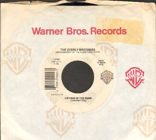Everly Brothers - Crying In The Rain/That's Old Fashioned (That's The Way Love Should Be) (double-hit re-issue with Warner Brothers company sleeve) - NM9/ - 45 rpm Records