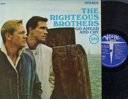 Righteous Brothers - Go Ahead And Cry: Let It Be Me, Save The Last Dance For Me, What Now My Love, Stagger Lee, Island In The Sun (vinyl STEREO LP record) - VG7/NM9 - LP Records