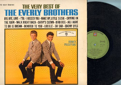 Everly Brothers - The Very Best Of The Everly Brothers: Bye Bye Love, ('Til) I Kissed You, Wake Up Little Susie, Crying In The Rain, Cathy's Clown, All I have To Do Is Dream, Bird Dog, So Sad, Lucille (vinyl STEREO LP record, GERMAN Pressing) - NM9/NM9 -