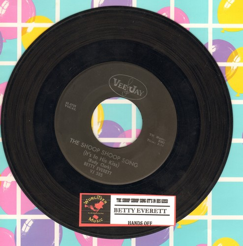 Everett, Betty - The Shoop Shoop Song (It's In His Kiss)/Hands Off (black label early pressing with juk box label) - VG7/ - 45 rpm Records