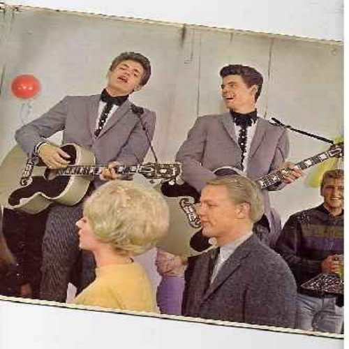 Everly Brothers - Instant Party!: True Love, Bye Bye Blackbird, Oh! My Pa-Pa, Trouble In Mind, The Party's Over, Ground Hawg (vinyl MONO Lprecord, unique folding cover) - NM9/VG7 - LP Records