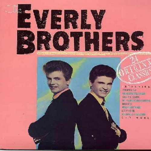 Everly Brothers - 24 Original Classics: Bye Bye Love, Wake Up Little Sussie, Bird Dog, All I Have To Do Is Dream, 'Til I Kissed You, When Will I Be Loved, Let It Be Me, Cathy's Clown, Love Hurts, So Sad, Crying In The Rain (2 vinyl LP record set, illustra
