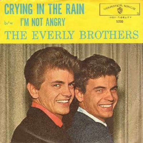 Everly Brothers - Crying In The Rain/I'm Not Angry (with picture sleeve) - NM9/NM9 - 45 rpm Records