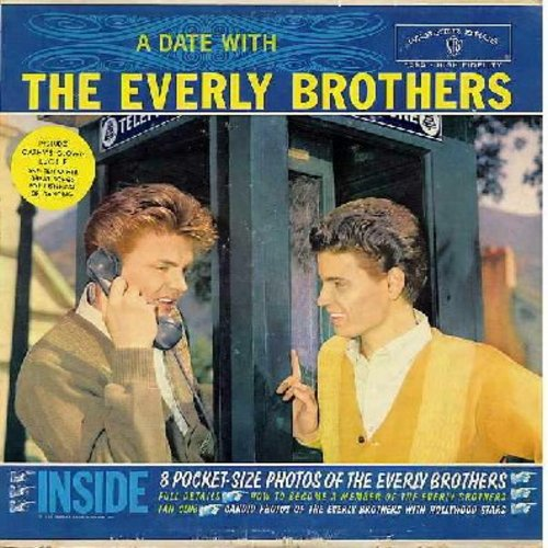 Everly Brothers - A Date With The Everly Brothers: Made To Love, Always It's You, Love Hurts, Lucille, Donna Donna, Cathy's Clown (vinyl MONO LP record, gray label) - VG7/VG7 - LP Records