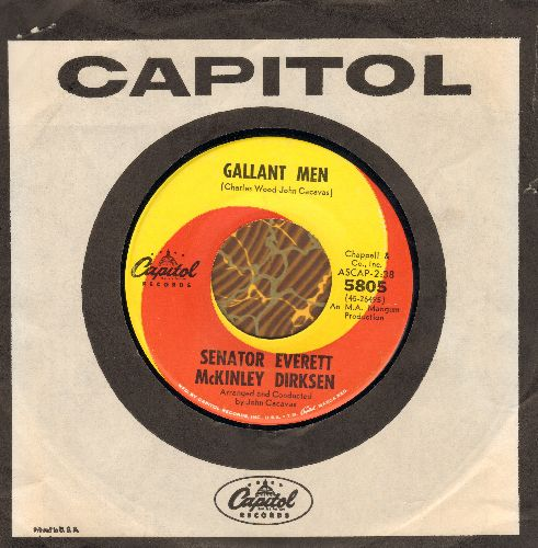 Dirksen, Senator Everett McKinley - Gallant Men/The New Collossus (with vintage Capitol company sleeve) - NM9/ - 45 rpm Records