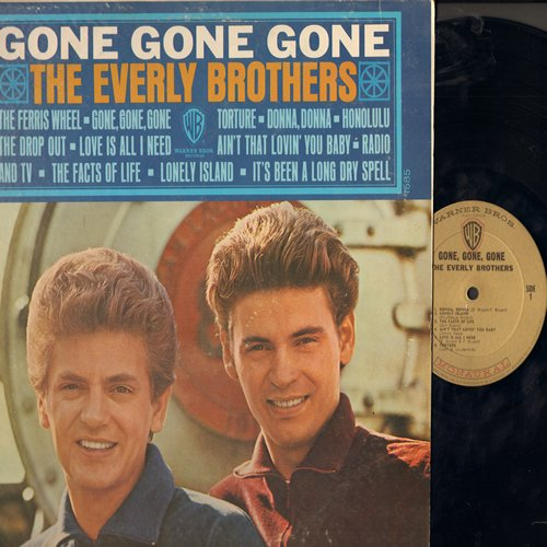 Everly Brothers - Gone Gone Gone: Donna Donna, Ain't That Lovin' You Baby, Radio & TV, Lonely Island, The Facts Of Life (vinyl MONO LP record, gold label first pressing) - VG7/EX8 - LP Records