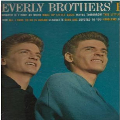 Everly Brothers - The Everly Brothers' Best: Bye Bye Love, Wake Up Little Susie, All I Have To Do Is Dream, Nird Dog, Devoted To You (vinyl MONO LP record) - EX8/EX8 - LP Records
