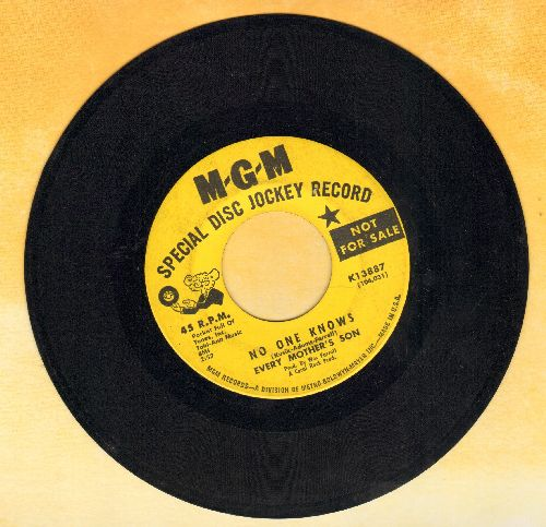 Every Mother's Son - What Became Of Mary/No One Knows (DJ advance pressing) - VG7/ - 45 rpm Records