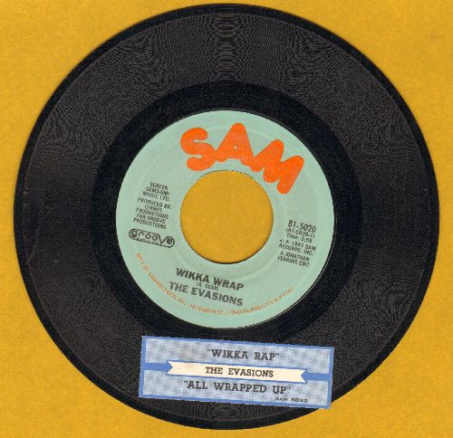 Evasions - Wikka Wrap/All Wrapped Up (with juke box label) - VG7/ - 45 rpm Records