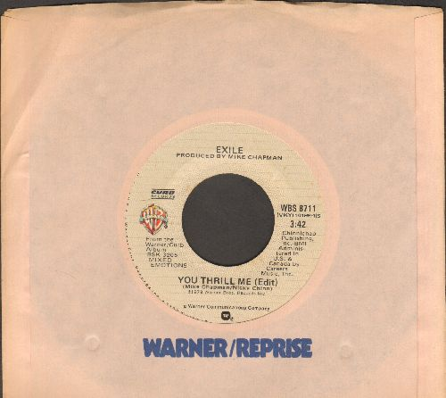 Exile - You Thrill Me/One Step At A Time (MINT condtion with Warner Brothers company sleeve) - M10/ - 45 rpm Records
