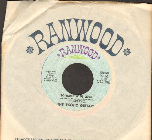 Exotic Guitars - To Rome With Love/Peg O' My Heart (with vintage Rainwood company sleeve) - NM9/ - 45 rpm Records