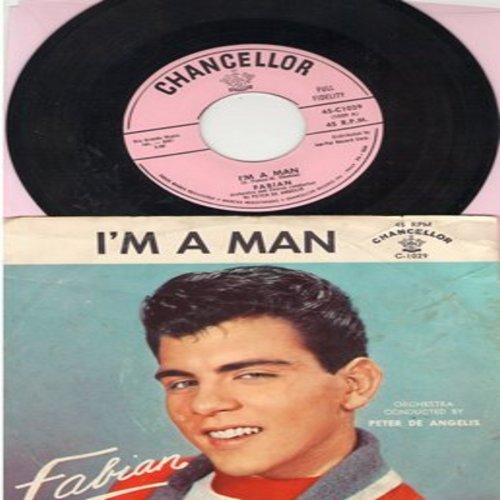 Fabian - I'm A Man/Hypnotized (with picture sleeve, NICE condition!) - M10/EX8 - 45 rpm Records
