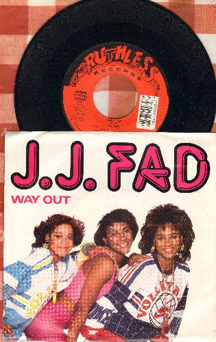 J. J. Fad - Way Out/Now Really (with picture sleeve) - M10/EX8 - 45 rpm Records