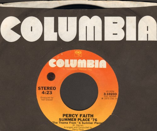 Faith, Percy - Summer Place '76 (DISCO VERSION of Theme From A Summer Place)/Chompin' - NM9/ - 45 rpm Records