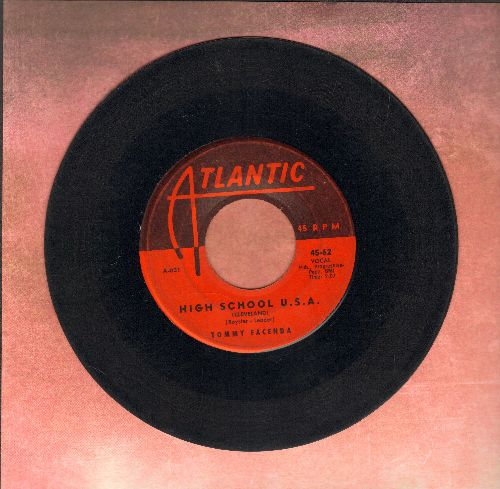 Facenda, Tommy - High School U.S.A. (Cleveland Version)/Plea Of Love (with vintage Atlantic company sleeve)  - G5/ - 45 rpm Records