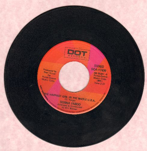 Fargo, Donna - The Happiest Girl In The Whole U.S.A./The Awareness Of Nothing - NM9/ - 45 rpm Records