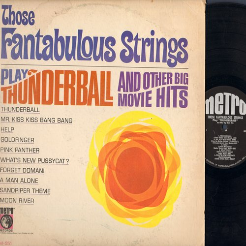 Fabulous Strings - Thunderball and other Movie Hits: Goldfinger, Pink Panther, Moon River, What's New Pussycat? (vinyl MONO LP record) - NM9/VG7 - 45 rpm Records