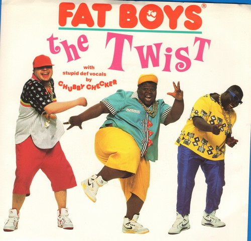 Fat Boys - The Twist (with stupid def vocals by Chubby Checker)/The Twist (Yo, Twist! Version) (with picture sleeve) - NM9/EX8 - 45 rpm Records