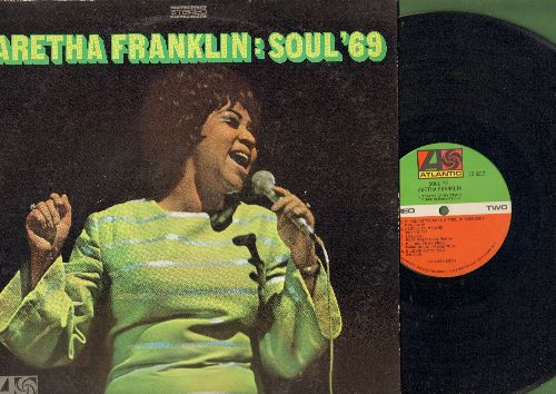 Franklin, Aretha - Soul '69: Today I Sing The Blues, Gentle On My Mind, Tracks Of My Tears, Elusive Butterfly, I'll Never Be Free (vinyl STEREO LP record) - VG7/EX8 - LP Records