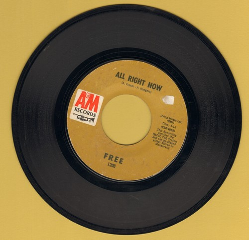 Free - All Right Now/Mouthful Of Grass - EX8/ - 45 rpm Records