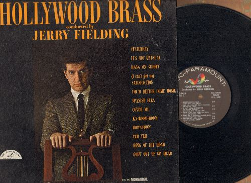 Fielding, Jerry - Hollywood Brass: Yesterday, Hang On Sloopy, (I Can't Get No) Satisfaction, Downtown, Yeh Yeh, King Of The Road (vinyl MONO LP record) - EX8/EX8 - LP Records