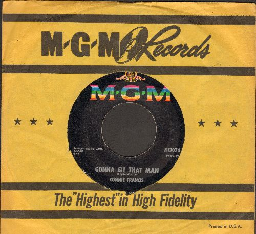 Francis, Connie - Second Hand Love/Gonna Git That Man (with MGM company sleeve) - EX8/ - 45 rpm Records