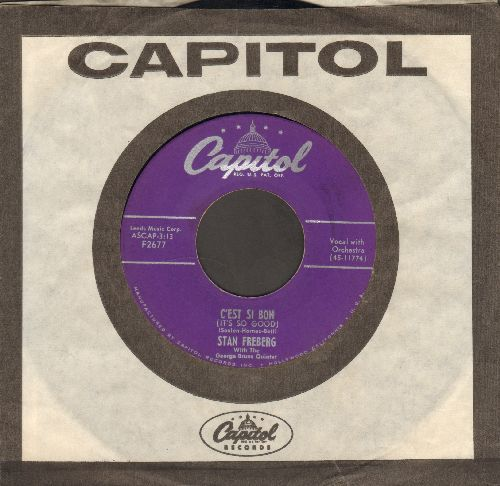 Freberg, Stan - C'est Si Bon/A Dear John And Marsha Letter (with vintage Capitol company sleeve, NICE condition!) - NM9/ - 45 rpm Records