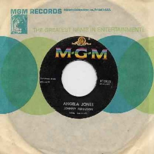 Ferguson, Johnny - Angela Jones/Blue Serge And White Lace (with MGM company sleeve) - EX8/ - 45 rpm Records