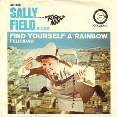 Field, Sally - Felicidad/Find Yourself A Rainbow (from TV Show -The Flying Nun-) (with picture sleeve) - EX8/VG6 - 45 rpm Records