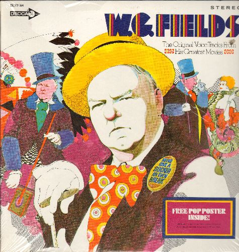 Fields, W. C. - W. C. Fields - The Original Voice Tracks From His Greatest Movies (vinyl STEREO LP record, gate-fold cover, SEALED, bb upper right cover) - SEALED/SEALED - LP Records