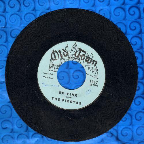 Fiestas - So Fine/Last Night I Dreamed (RARE version with piano intro!) - EX8/ - 45 rpm Records