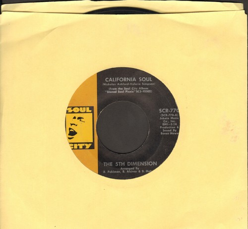 Fifth Dimension - California Soul/I'll Never Be The Same Again - EX8/ - 45 rpm Records