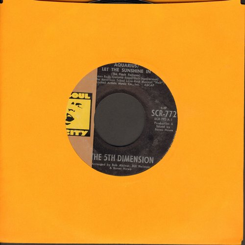 Fifth Dimension - Aquarius/Let The Sunshine In/Don'tcha Hear Me Callin' Ya (MINT condition) - M10/ - 45 rpm Records