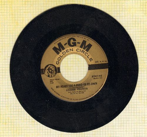Francis, Connie - My Heart Has A Mind Of Its Own/Malaguena (gold label early re-issue) - EX8/ - 45 rpm Records