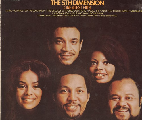 Fifth Dimension - Greatest Hits: Aquarius/Let The Sunshine In, Up-Up And Away, Working On A Groovy Thing, Wedding Bell Blues (vinyl STEREO LP record, gate-fold cover) - NM9/EX8 - LP Records