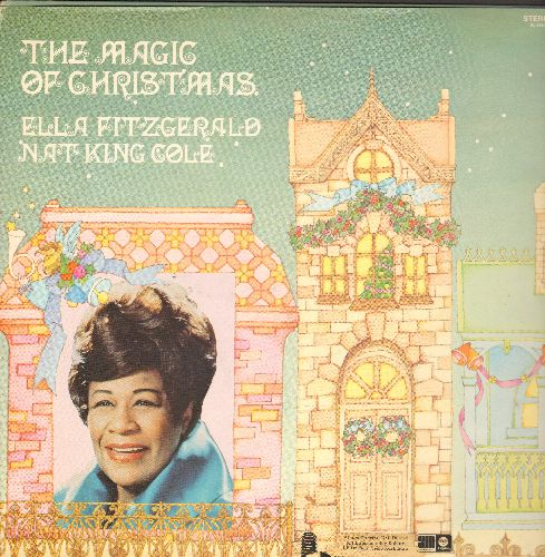 Fitzgerald, Ella & Nat King Cole - The Magic Of Christmas: O Come All Ye Faithful, Deck The Hall, The First Noel, Joy To The World, O Tannenbaum (vinylSTEREO LP record) - NM9/EX8 - LP Records