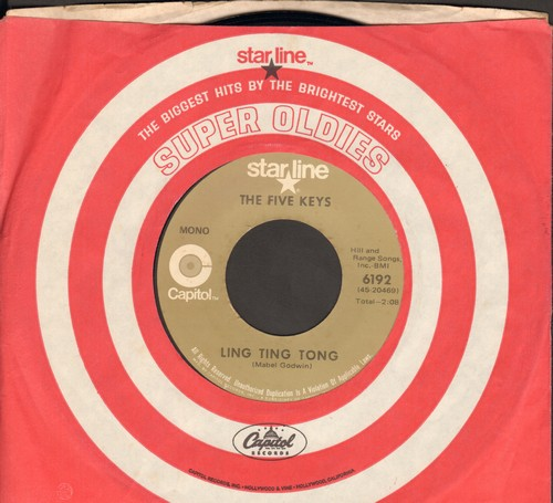 Five Keys - Ling Ting Tong/Wisdom Of A Fool (double-hit re-issue with Capitol company sleeve) (wol) - EX8/ - 45 rpm Records